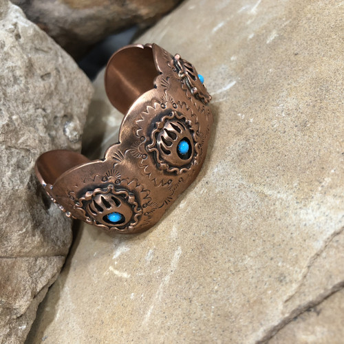 Chaco Canyon Bear Paw Copper Cuff Bracelet