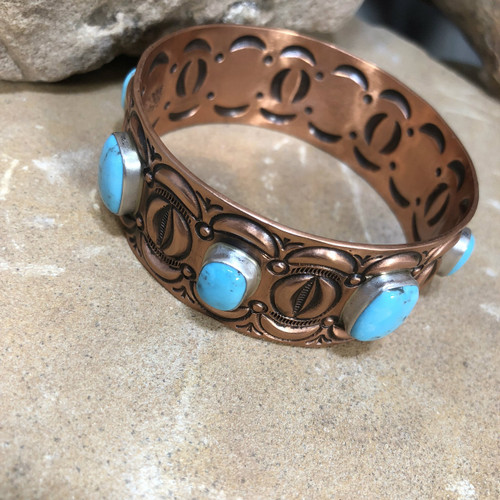 Chaco Canyon Turquoise Copper Bangle Bracelet