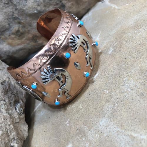 Chaco Canyon Kokopelli Copper Cuff Bracelet