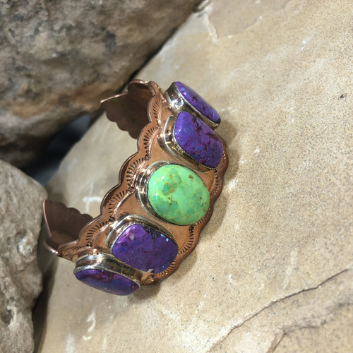 Chaco Canyon 5 Stoned Copper Bracelet