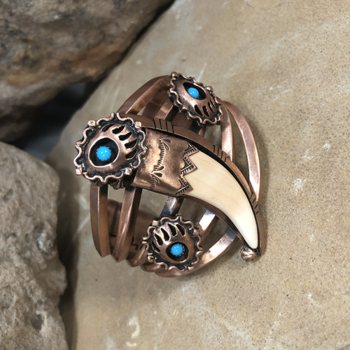 Chaco Canyon Bear Claw Copper Cuff Bracelet