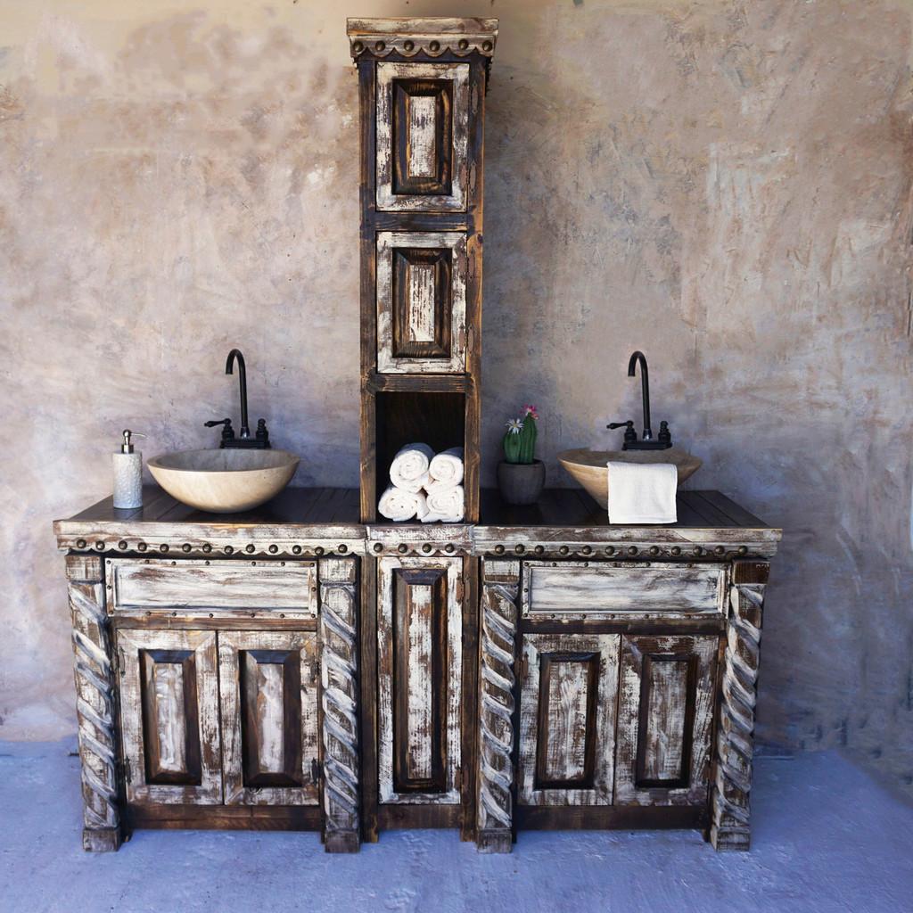 San Angelo Double Vanity & Linen Shelf