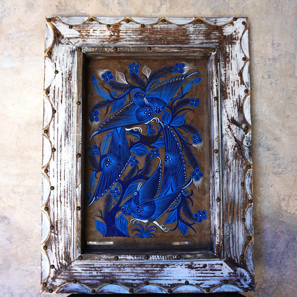 Frame Hand Painted Otomi Art