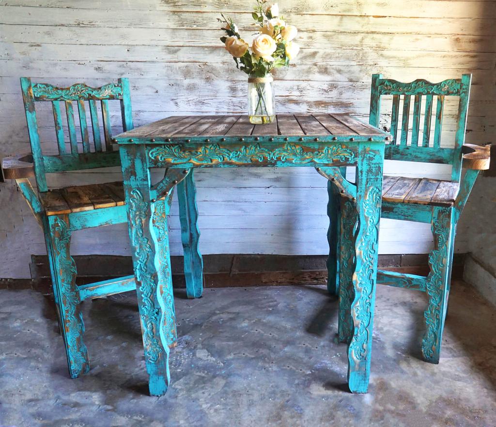 Riviera Bar Table + 2 Stools