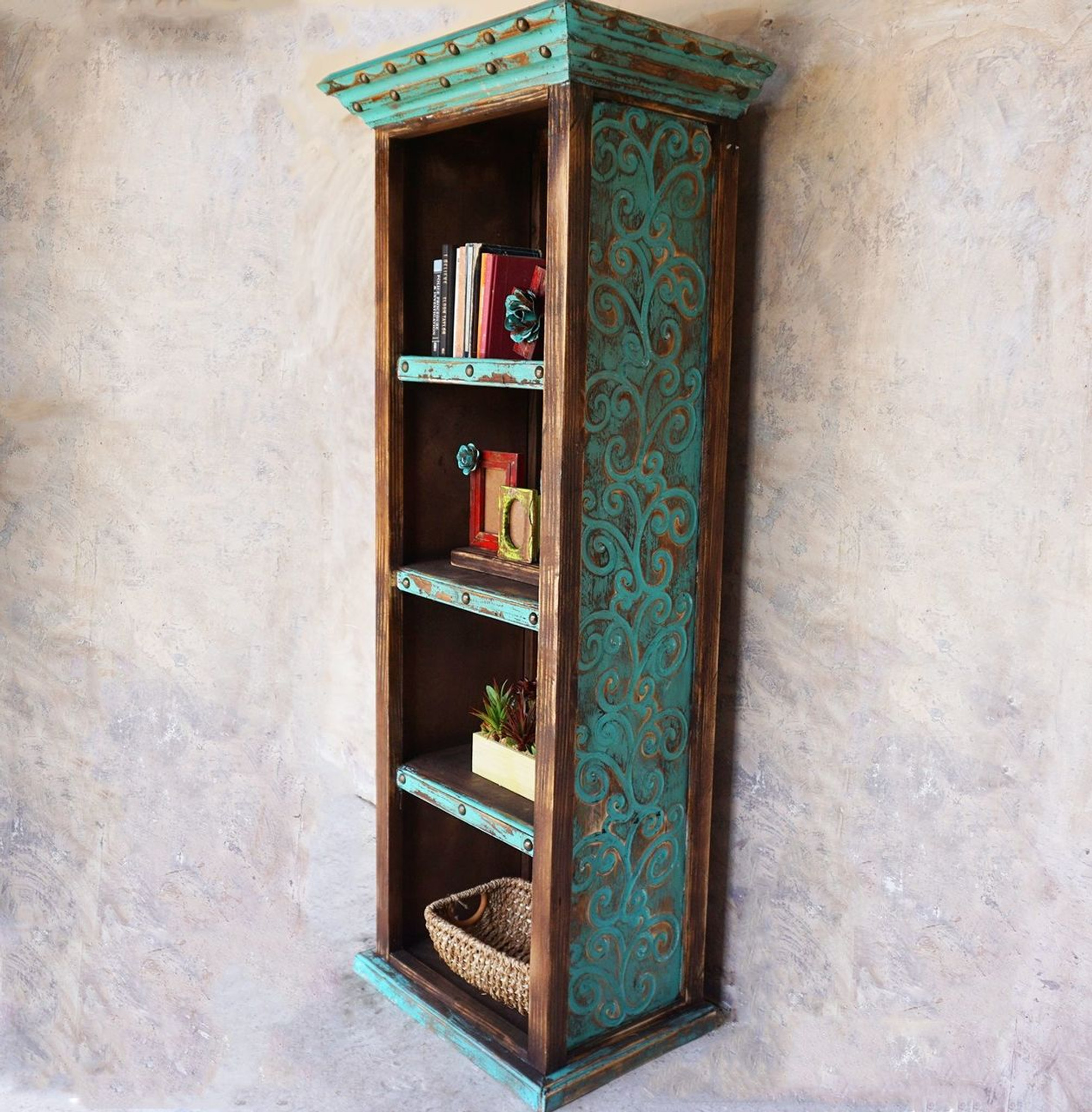 bookcases bookcase top pine collection bonnet furniture mexican rustic
