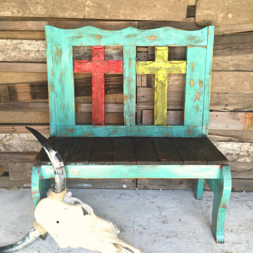 Turquoise Fiesta Tajo 2 Cross Bench