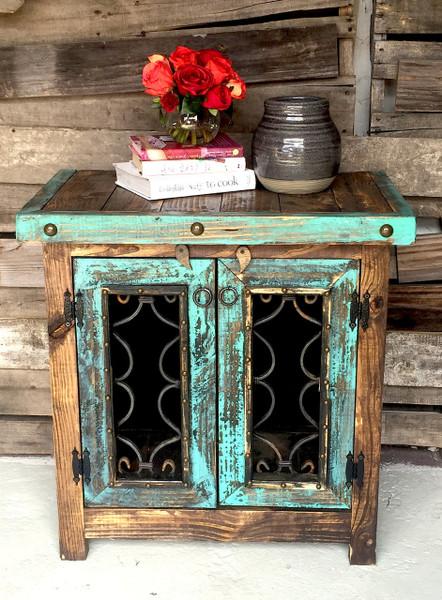 Iron Door Side Cabinet Sofia S Rustic Furniture