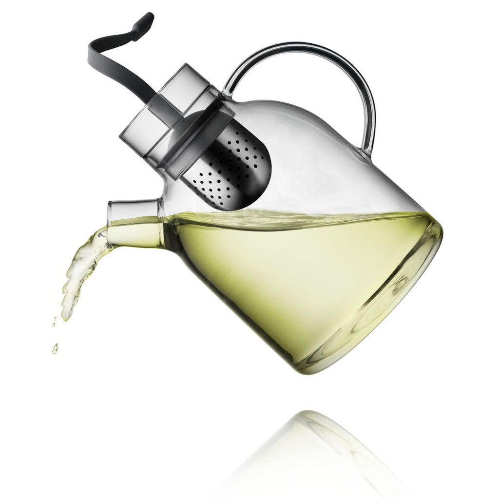 New Norm KETTLE TEAPOT in glass with Tea Egg