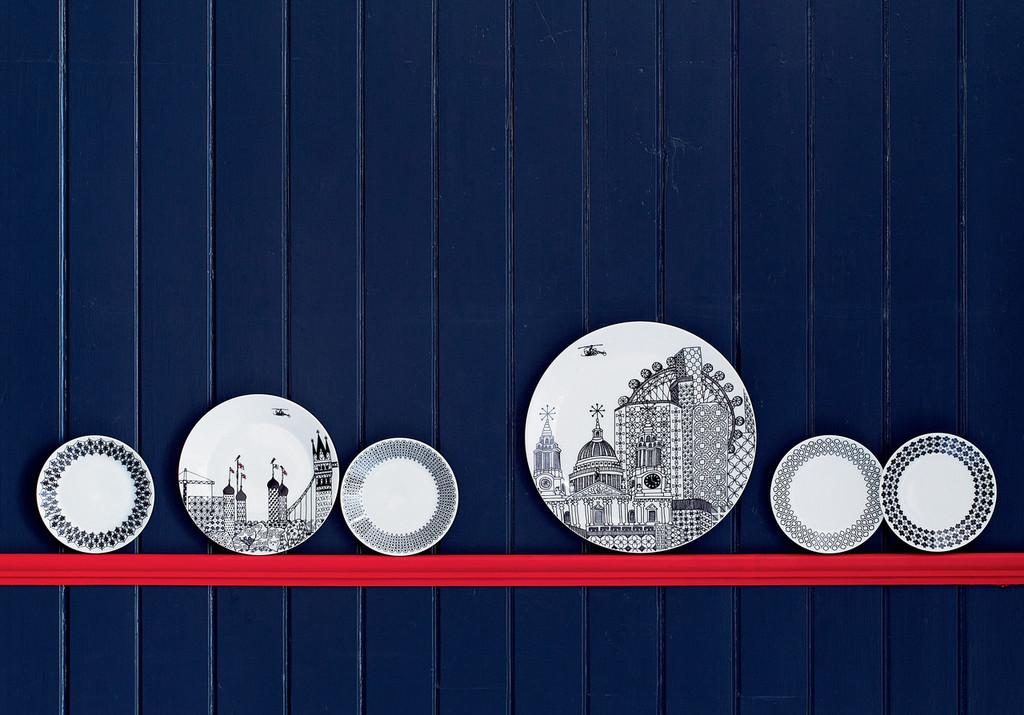 London Calling plates (4pc) 22cm