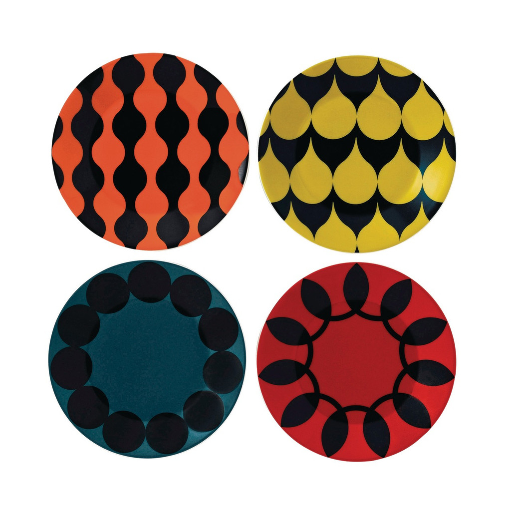 Geometric Collection by Charlene Mullen with a set of Geometric plates 16cm (4pc).