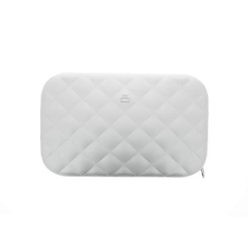 Clutch Quilted Ladies Bag - Silver