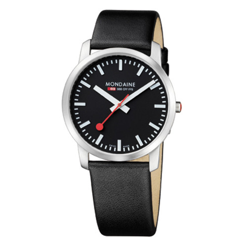 Simply Elegant 41mm - Black Dial Black Strap Sapphire Glass