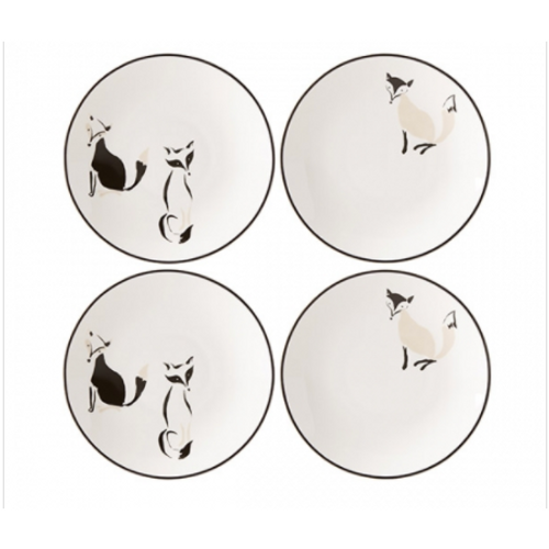 Forest Drive Tidbit Plates (4pc)
