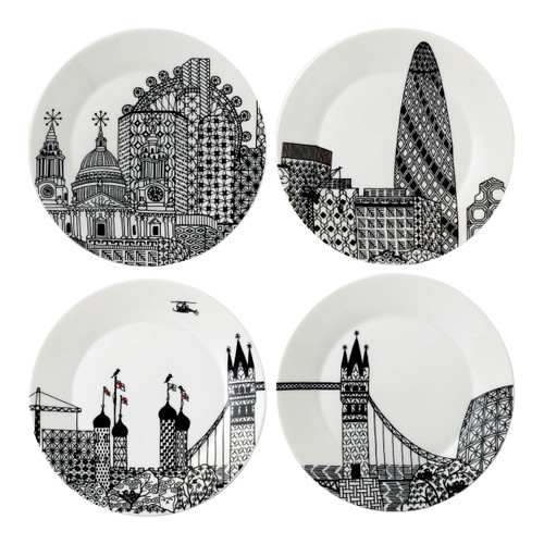 London Calling plates (4pc) 22cm