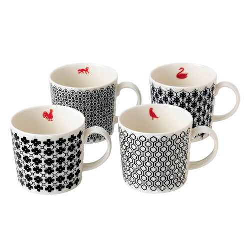 Blackwork Mugs (4pc)