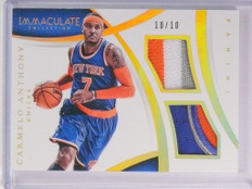 14-15 Panini Immculate Carmelo Anthony dual 3clr patch #D10/10 #DM-CA *53551