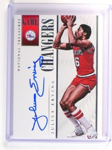 13-14 National Treasures Game Changers Julius Erving autograph #d46/60 *47262