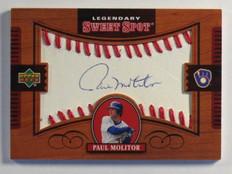 2002 Sweet Spot Legendary Signatures Paul Molitor auto autograph #L-PM *37939