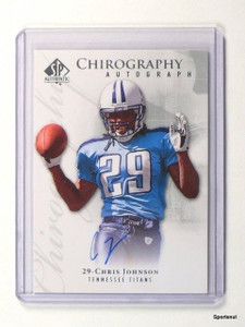 2009 SP Authentic Chirography Chris Johnson autograph auto #Ch-CJ *43620