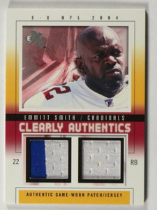 2004 E-X EX Clearly Authentics Emmitt Smith 2clr patch jersey #D19/44 *39509