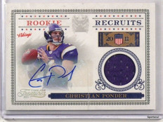 2011 Timeless Treasures Christian Ponder autograph auto jersey rc #D41/100 *4281