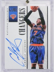 13-14 National Treasures Changers Carmelo Anthony autograph auto #D14/60 *48309