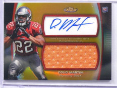 2012 Topps Finest Gold Refractor Doug Martin autograph auto jersey rc #D16/75 *4