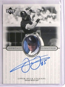 2000 Upper Deck Legends Legendary Signatures Frank Thomas autograph auto *55154