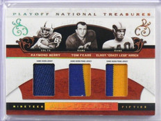 2007 National Treasures Raymond Berry Tom Fears Crazy Legs Hirsch patch /25 *391