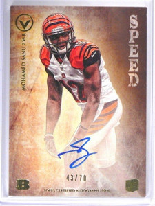 2012 Topps valor Speed Mohamed Sanu auto autograph rc rookie #D43/70 *40921