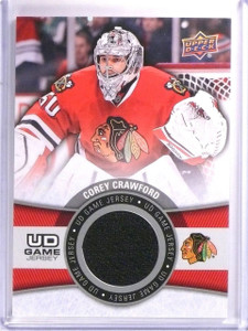 2015-16 Upper Deck Series 1 Corey Crawford UD Game Jersey #GJCO *54107