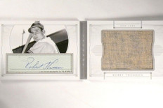 2015 National Treasures Bobby Thomson autograph auto jersey #D08/25 *53515