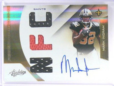 2011 Panini Absolute RPM Mark Ingram auto autograph jersey rc rookie #D4/48 *405