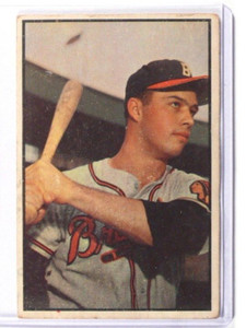 1953 Bowman Color Eddie Mathews #97 GD *36816
