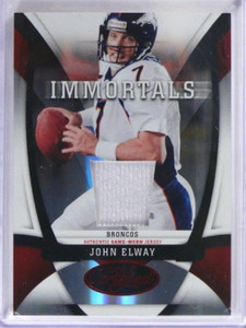 2009 Certified Immortals Mirror Red John Elway jersey #D57/100 #213 *35665