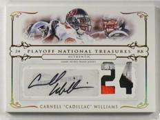 2007 National Treasures Cadillac Williams auto autograph 3clr patch #D01/24 *394