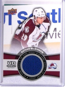 2015-16 Upper Deck Series 1 Nathan MacKinnon UD Game Jersey #GJNM *54084