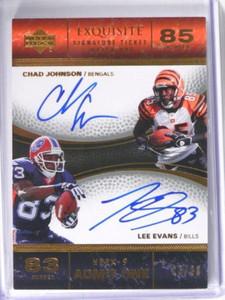 2007 UD Exquisite Match Ups Chad Johnson & Lee Evans auto autograph #D13/30 *394