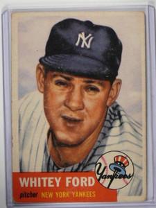 1953 Topps Whitey Ford #207 VG *37318