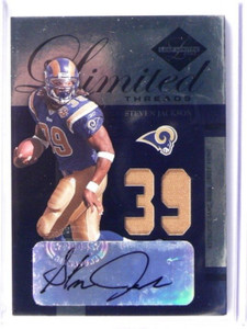 2005 Leaf Limited Threads Steven Jackson auto autograph prime patch #D25/39 *393