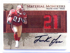 2007 Leaf Limited Material Monikers Frank Gore auto autograph jersey #D13/21 *39