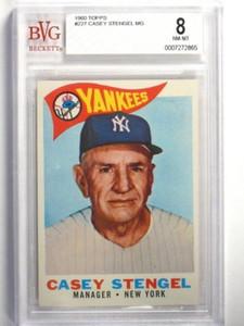 1960 Topps Casey Stengel #227 BVG 8 NM_MT *35177