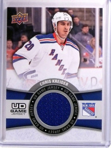 2015-16 Upper Deck Series 1 Chris Kreider UD Game Jersey #GJCK  *54081