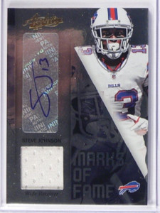 2012 Absolute Marks Of Fame Steve Johnson auto autograph jersey #D15/25 *38837