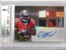 2012 Certified Mirror Gold Doug Martin auto patch ball rc rookie #D10/25 BGS 9 *