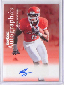 2012 Fleer Retro Autographics Mohamed Sanu auto autograph rookie *38160