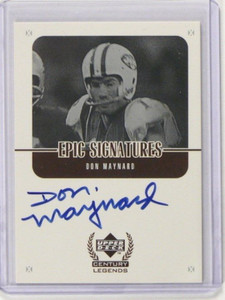 1999 Upper Deck Century Legends Epic Signatures Don Maynard auto autograph *3757