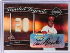 2004 Leaf Limited Legends Lou Brock auto autograph jersey #D17/50 *32784