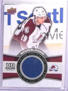 2015-16 Upper Deck Series 1 Nathan MacKinnon UD Game Jersey #GJNM *53990
