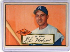 1952 Topps Black Back Gil Hodges #36 VG+ *31958